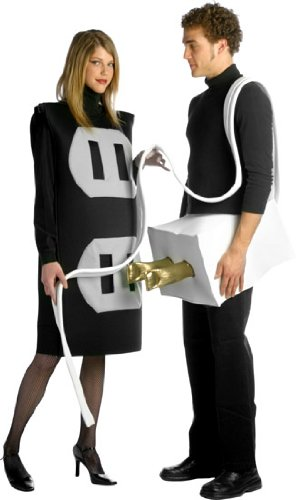 Rasta Imposta Lightweight Plug and Socket Couples Costume, Black/White, One Size - Adult Costumes