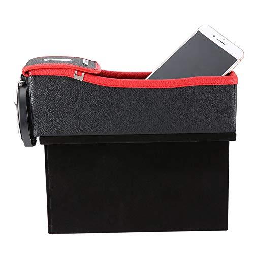 Red /& Black Multifunction Car Seat Gap Storage Box Cup Drink Holder Coins Organizer