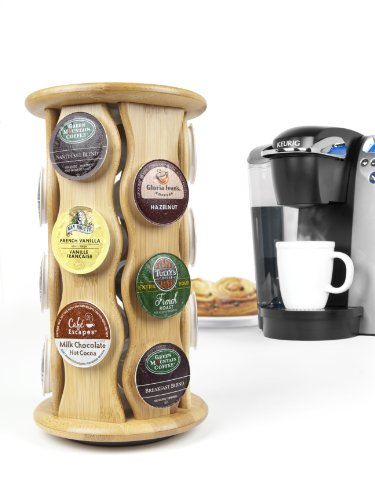 Keurig by Capital Products Bamboo Carousel K-Cup Holder