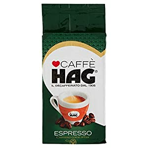 Hag Miscela di Caffè Decaffeinato Macinato Espresso - 250 g