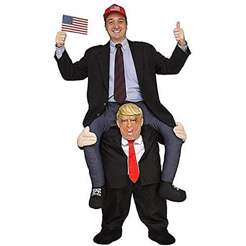 Funniest Costume For Halloween (Halloween Carry Mascot Me Ride On Trump President Oktoberfest Costume Ride on Costume)