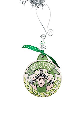 Glory Haus 42000623 Michigan State Puff Ornament, Multicolor by Glory Haus