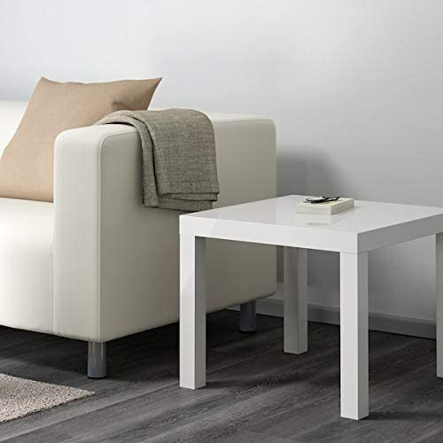 Side tables high-gloss white 55x55 cm durable and easy to care for Furniture Coffee /& side tables Tables /& desks DiscountSeller LACK Side table Environment friendly.