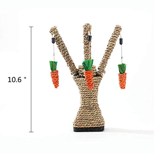 - Spring Fever Cat Carrot Tree Molar Hanging Chew Toy Ultimate Scratching Post Tan One Size