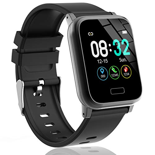 L8star Fitness Tracker HR Activity Tracker with 13inch IPS Color Screen Long Battery Life Smart Watch with Sleep Monitor Step Counter Calorie Counter Smart Bracelet for Women Men Black