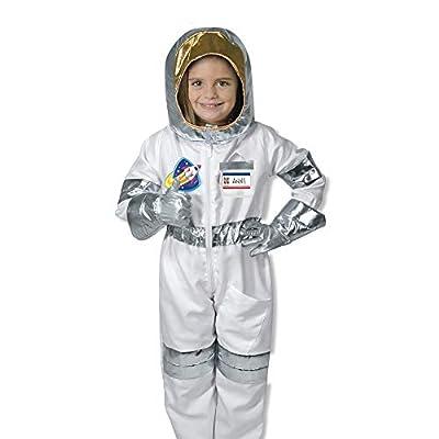 Melissa & Doug 18503 - Juego de disfraces de juego de roles para astronautas, Multicolor, 4,1 cm de largo ancho x 43.7 cm Edad 3-6 años, 5 piezas: Juguetes y juegos