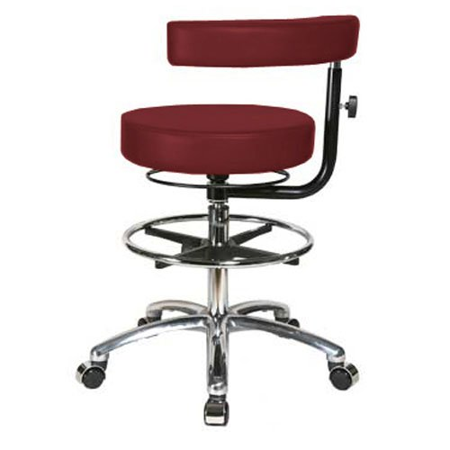 Perch Rolling Dental Stool In Chrome Adjustable Height And P