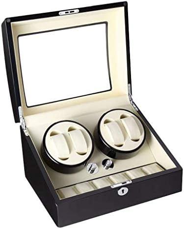 自動時計ワインダーメカニカルピアノペイント10桁Huamu時計ボックスモーター超静かな自動回転チェーンケース、A