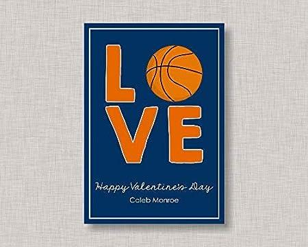 Placa de madera para San Valentín tarjetas de aula de baloncesto ...