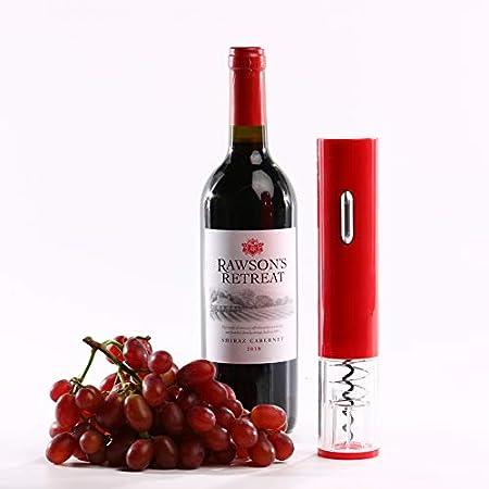 Sacacorchos eléctrico de vino, sacacorchos eléctrico automático, sacacorchos de vino doméstico portátil, sacacorchos de vino (rojo)