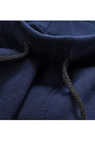 Delgada Entrenamiento Pantalones Cintura Casual Chándal Rectos Blue2 De Vepodrau wqY1OxTan