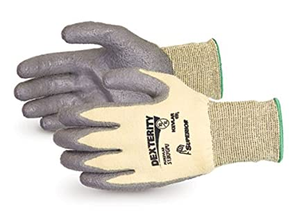 Pack of 1 Pair Size 10 Cut Resistant Work 13 Gauge Thickness Superior Glove Works S13KFGPU10 Superior S13KFGPU Dexterity Kevlar//Fiberglass String Knit Glove with Polyurethane Coated Palm