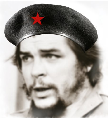 Che Guevara Store Black Military Beret with Red (Che Guevara Berets)