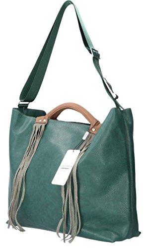 G421 A Design Chiara Verde Borsa Shu Mano Donna qnPn5gOW