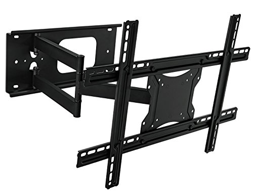 "Mount-It! Full Motion Articulating TV Wall Mount Bracket for 32-70"" Plasma, LED, LCD Flat Screens up to 100 Pounds and 600x400 VESA, Tilt, Swivel, Extend, Compress"