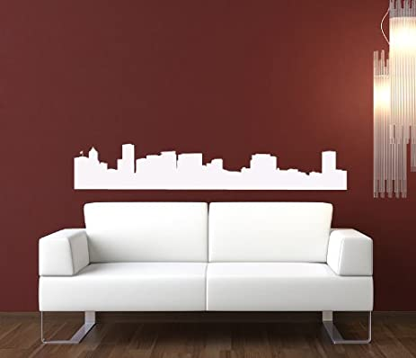 Portland Oregon Skyline Wall Decal Vinyl Sticker Wall Decor - Custom vinyl decals portland oregon