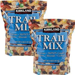 Kirkland Signature Trail Mix 4 Pounds Each (Pack of 2)