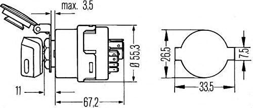 HELLA 6JB 003 959-011 Ignition-//Starter Switch