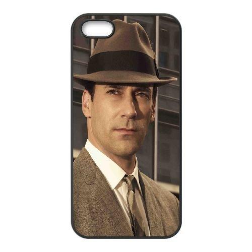 Don Draper Actor Hat Face Serious coque iPhone 5 5S cellulaire cas coque de téléphone cas téléphone cellulaire noir couvercle EOKXLLNCD23291