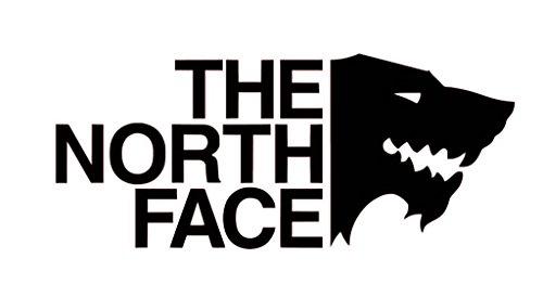 CCI The North Face GOT Game of Thrones Decal Vinyl Sticker|Cars Trucks Vans Walls Laptop| Black |5.5 x 2.5 in|CCI1523