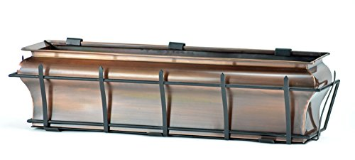H Potter Ogee Window Box Flower Copper Finish Planter (30 INCH) by H Potter
