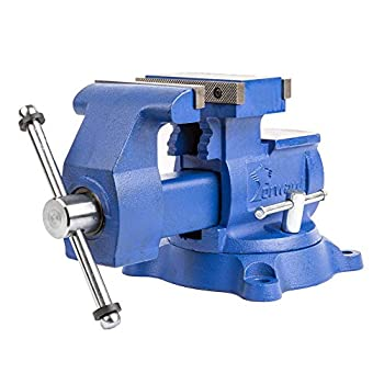 Image of Home Improvements Forward T4500 5.5-Inch Heavy Duty Reversible Bench Vise with 360-Degree Swivel Base (5 1/2', Industrial Grade)