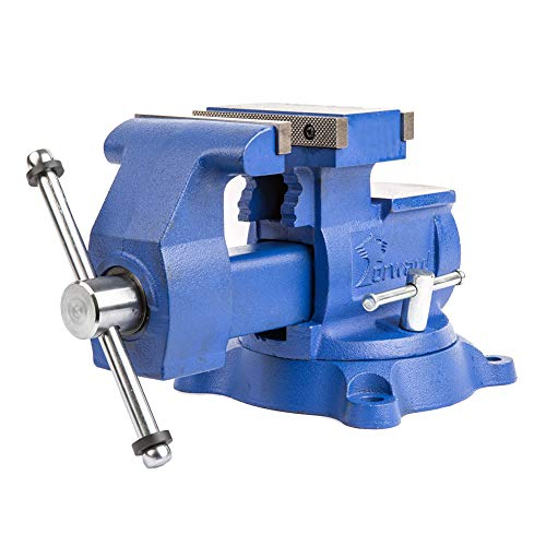 Forward T4500 5.5-Inch Heavy Duty Reversible Bench Vise with 360-Degree Swivel Base (5 1/2