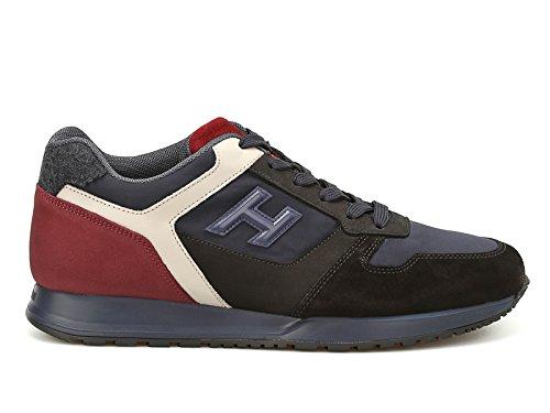 Hogan Sneakers Basse Uomo in Pelle e Tessuto Blu - Codice Modello: HXM3210Y850H5S9E7G Blu