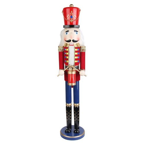 Jeco 36 Inch Red Nutcracker Drummer Soldier