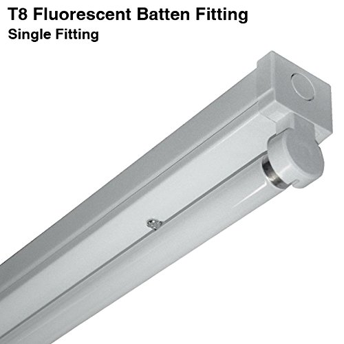 6Ft 70w Single Indoor 8 Fluorescent Batten Fitting High Frequency Light - Tub.
