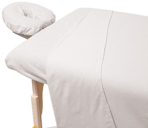For Pro Premium Flannel Sheet 3 Piece Set, White