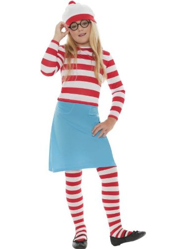 [WHERE'S WALLY WENDA CHILD COSTUME, LICENSED FANCY DRESS, SMALL AGE 4-6, GIRLS] (Wheres Wally Fancy Dress Kids)