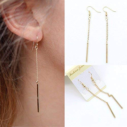 ba9c51e12 Amazon.com: Sophie Land Long Drop Tassel Straight Brass Plated Gold Line  Earrings for Woman and Girls Valentine's Day/Party/Birthday Gifts: Toys &  Games