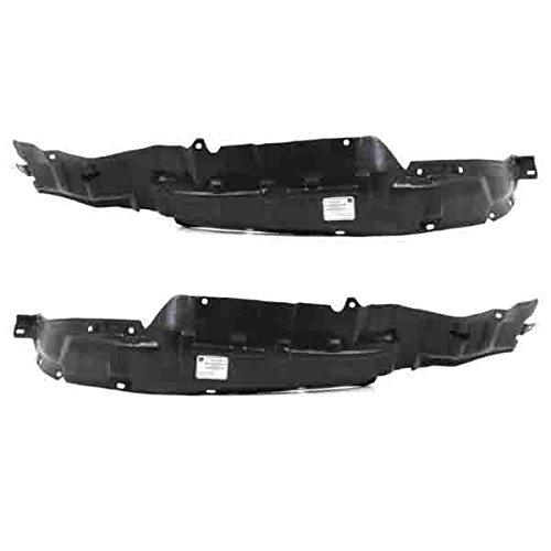New Fender Liner Splash Shields For Ford Set Of 2 Front Left /& Right Pair