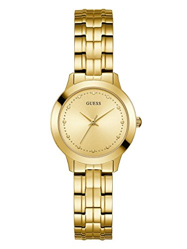 - GUESS  Classic Slim Gold-Tone Stainless Steel Bracelet Watch. Color: Gold-Tone (Model: U0989L2)