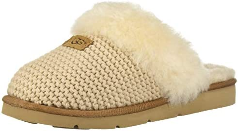0a56bc44699 UGG - Cozy Knit Slippers - Cream - Soft Sheepskin Slippers (3 UK ...