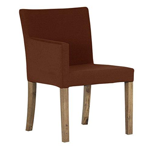arne ダイニングチェア 北欧 木製 椅子 チェアー 背もたれ 日本製 JOY 【Sサイズ】【右肘タイプ】【ブラウン脚】 ソフィア ダークブラウン B07435WWMC Sサイズ/右肘タイプ|ダークブラウン ダークブラウン Sサイズ/右肘タイプ