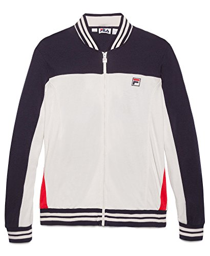 Fila Vantaggio Jacket, Gardenia / Peacoat / Chinese Red, XX-Large by Fila