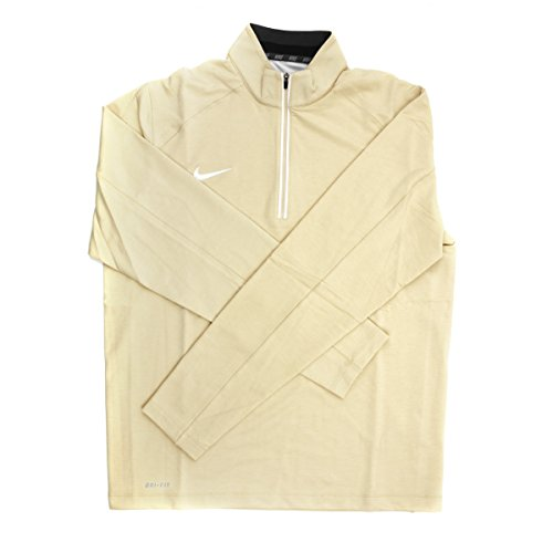 - Nike Dri-FIT Men's Cream 1/4 Zip Pullover Jacket - Medium