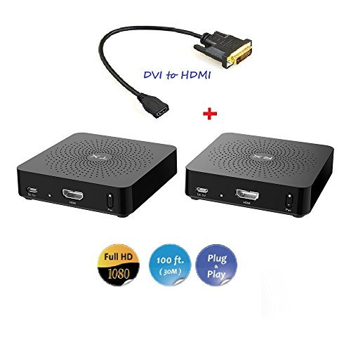 Theater Projector No Lens (MEASY Digital Wireless HDMI Dongle/Adapter/Extender Kit W2H +DVI to HDMI adapter Supporting 1080P up to 100FT(30M) for Epson Home Cinema 2150 Wireless 1080p Miracast, 3LCD projector)