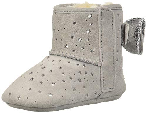 UGG Girls' I Jesse Bow II STARGIRL Bootie Fashion Boot, Seal, 0/1 M US Infant (Ugg Bows Boots With)