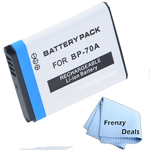 Frenzy BP-70A Battery for Samsung Cameras + Frenzy Microfiber Cloth by FrenzyDeals (Image #2)