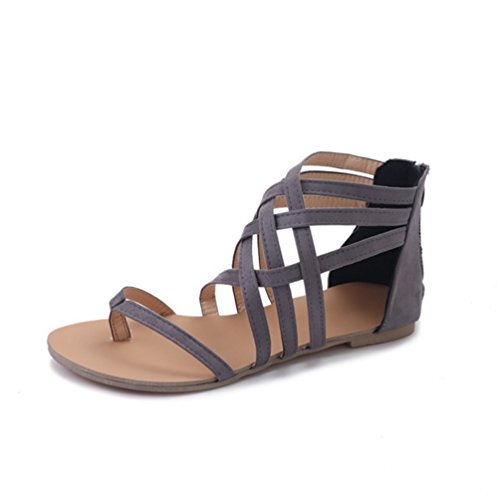 Plates Ouvertes Femmes Toe Talons Chaussures Talons Clip Gris Sandales Mode Sandales Plateformes 4xzqCRw6v