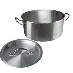 Winware Stainless Steel 15 Quart Brasier with Cover