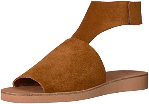 Via Spiga Women Shoes - Via Spiga Women's Briar Flat Sandal, Saddle Suede, 10 Medium US