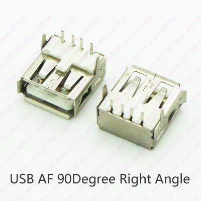 Davitu Connectors - 10PCS B-A Type Connector Female / 90Degree Right Angle Feet/Female USB Socket/USB Jack