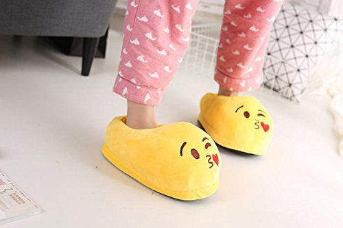YINGGG Emoji Slippers Plush Fluffy House Shoes (Kiss) - Image 4