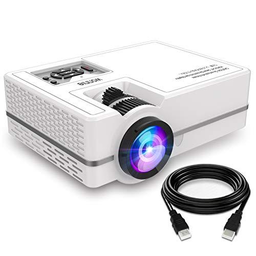 """Projector, WONNIE Mini Projector 2200 Lumens 170"""" Display 70"""