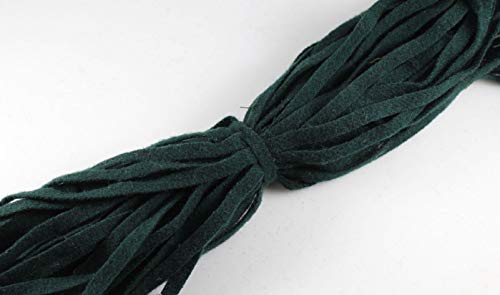 - 100% Wool Up-cycled #8 Strips - Qty 50 - Hunter Green