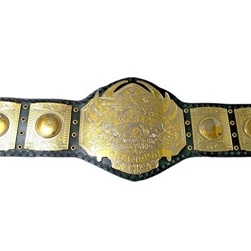 TNA World Heavyweight Wrestling Championship Belt Replica Adult Size Metal Plates